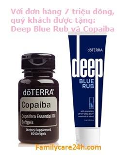 Chương trình khuyến mãi tặng Deep Blue Rub và Copaiba Softgels