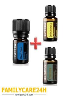 MUA tinh dầu DEEP BLUE được tặng tinh dầu SẢ LEMONGRASS và tinh dầu BÁCH ĐỊA TRUNG HẢI CYPRESS